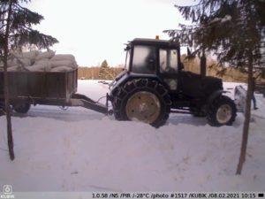 зимнее фото c KUBIK — в охотхозяйстве