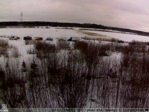 фото с фотоловушки Kubik - переправа в Паленьге 12 декабря 2019