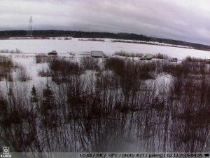 фото с фотоловушки Kubik - переправа в Паленьге 2 декабря 2019